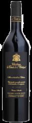 black win bottle with black label and gold letter of le noir et or, organic red wine from château la tour de l'evêque vineyard in Frence